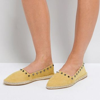 ASOS JISELLE Wide Fit Point Studded Espadrilles at asos.com