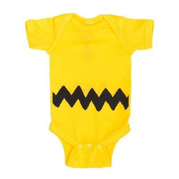 Charlie Brown Costume Peanuts Licensed Baby One-Piece Bodysuit - Yellow