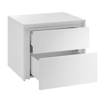 Casabianca Home ZEN CB-1104-N-WH Nightstand/ End Table High Gloss White Lacquer