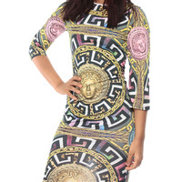made2envy Trendy Vintage Art Print Bodycon Dress