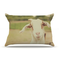 "Angie Turner ""Happy Goat"" Smiling Animal Pillow Case"