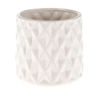 White Faceted Flower Pot | Hobby Lobby | 1247063