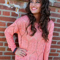 City Street Style Sweater {Coral}
