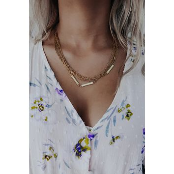 Link Well Together Necklace: Gold