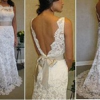 French Lace Wedding Dress by Sash Couture