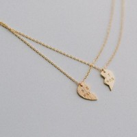 Best Friends Necklace Set - Gold