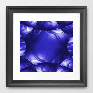 Blue Leather Lounge Framed Art Print by Moonshine Paradise | Society6