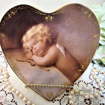 Angel Plate Sweet Slumber Limited Edition Bradford Exchange 1996 Porcelain Heart blm
