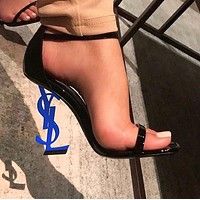 YSL 2019 new ultra high heel sexy shaped with sandals high heels shoes 11#