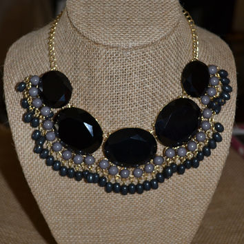 Black/Grey Bubble Necklace