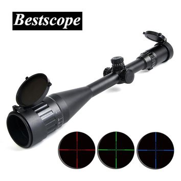 Bestsight 6-24X50 AOL Hunting Rifle Scopes Sniper Scope Tactical Optics Scopes RGB Illuminated For Hunting Rifle Air Guns