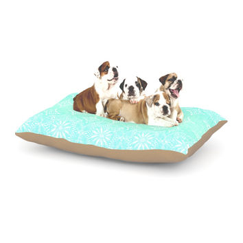 "Suzie Tremel ""Medallion Aqua Ombre"" Blue Teal Dog Bed"