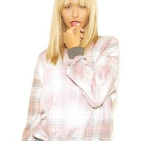 Wildfox Sun Bleached Plaid Oversized Sweater in Multi Colored | Boutique To You