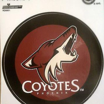 "Phoenix Coyotes 4"" Round Bumper Sticker Decal NHL Hockey WTE"
