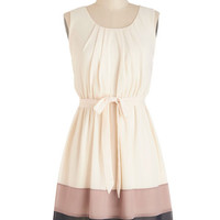 ModCloth Colorblocking Mid-length Sleeveless A-line Band in Line Dress