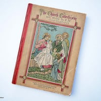 Antique 1900 'The Church Catechism' with Notes by E.M. Illustrated Small 56 Pages Book by New York E & J.B.Young and Co