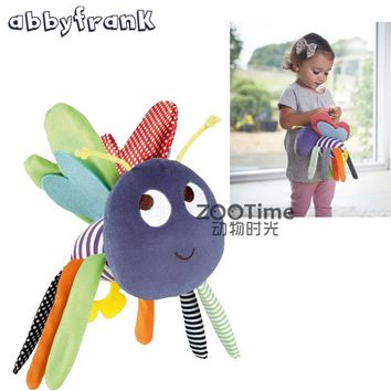 Abbyfrank Baby Rattle Plush Bee Butterfly Crib Pram Toys hanging Hand Bell Bed Infant Baby Toys 0-12 Months Brinquedos Animal