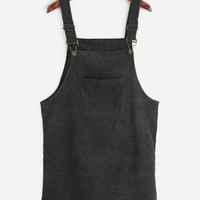 Corduroy Overall Dress -SheIn(Sheinside)