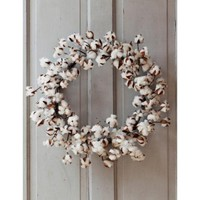 *large cotton wreath*