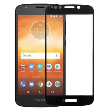 Motorola Moto E5 Play , e5 Cruise, Premium HD Temper Glass Ultra Thin Scratch Free Screen Protector - Black