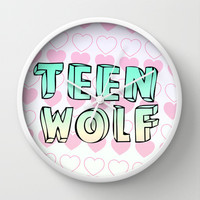 TEEN WOLF Wall Clock by Sara Eshak