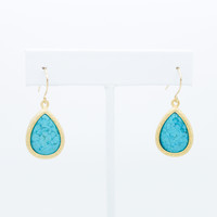Delicate stone earrings