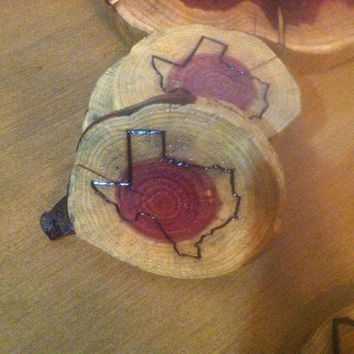 Wood Burned Coaster sets of 4