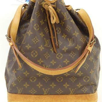 r61133 Auth LOUIS VUITTON NOE Monogram Canvas Drawstring Shopper Tote Bag M42224