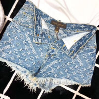 LV x Supreme  High Waist Denim Shorts