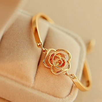 Fashion Candy Color Bracelet  Bangle Jewelry (Size: M, Color: Gold) = 1838886212