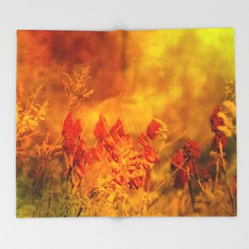 Autumn Wonder Throw Blanket by Theresa Campbell D'August Art