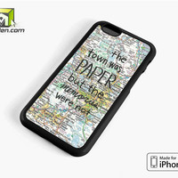 John Green Paper Towns Quotes Cover iPhone 6 Case Cover by Avallen