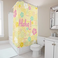 Cute aloha hawaiian colorful Shower Curtain