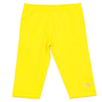 Silvian Heach Junior - Girls Cotton Basic Benucci Leggings, Yellow Limone