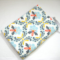 Diaper Changing Mat, Diaper Bag Accessory, Baby Shower Gift Idea, Honey Bee Print