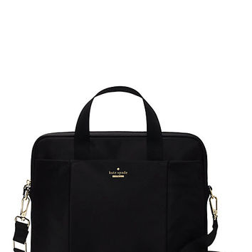 Kate Spade Classic Nylon Laptop Commuter Bag Black ONE