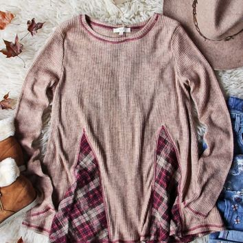 Northerner Plaid Thermal in Latte