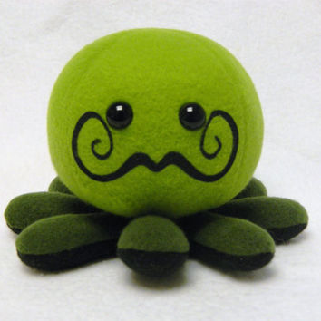 Mustache octopus plush toy