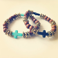Cross Beaded Bracelets