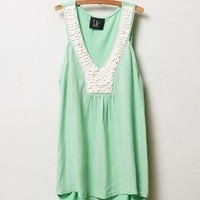 Scalloped Mint Tank by Anthropologie Mint