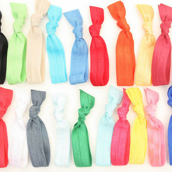 Sports Ponytail Holders (20) Emi Jay Like Knotted Hair Bands - Stylish Ponytail Hair Ties - Grab Bag of FOE Hair Ties -You Pick Colors