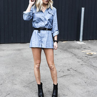 Too Good Denim Romper