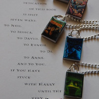 Harry Potter and the Goblet of Fire Book Necklace by evebelieves