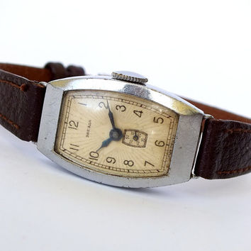 Antique Womens Watch ZVEZDA (STAR). Mid Century Ladies Wrist Watch. Soviet Russian Womens Watch 50s. Art Deco Mechanical Watch For Women.