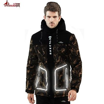 UNCO&BOROR size 6XL 7XL 8XL winter jacket men brand clothing waterproof windproof thick Reflective coat male quality parka men