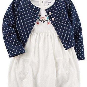 Carter's Baby Girls' Flutter Sleeve Striped Dress