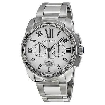 Cartier W7100045 Calibre de Cartier Men's Chronograph Automatic Watch