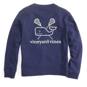 Shop Boys Long-Sleeve Lax Whale Pocket T-Shirt at vineyard vines