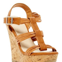 Madison Cork Wedge Sandal