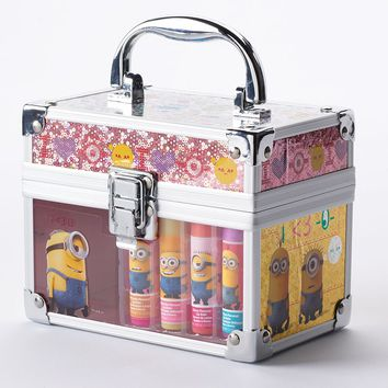 Despicable Me Minion Train Case Lip Balm Set (Cherry/Cotton Candy/Berry)
